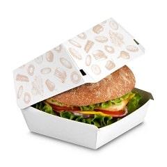 ساخت جعبه همبرگر فست فود