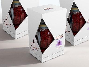 چاپ انواع چاپ جعبه زعفران صادراتی